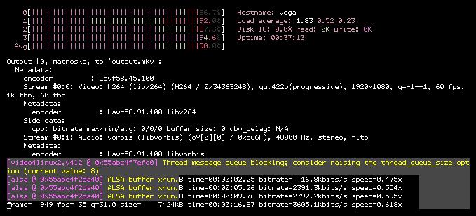 High CPU usage in FFmpeg