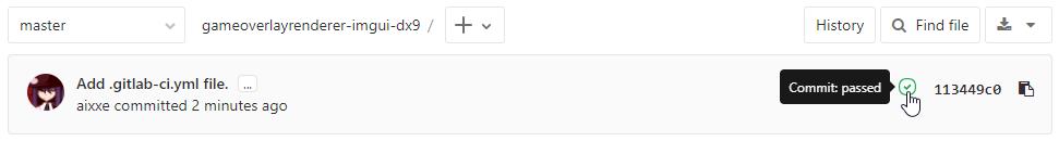 GitLab CI commit indicator